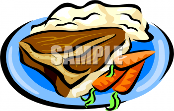 Bone Steak Mashed Potatoes And Carrots Clipart Image   Foodclipart