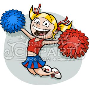 Cartoon Cheerleader Clipart - Clipart Kid