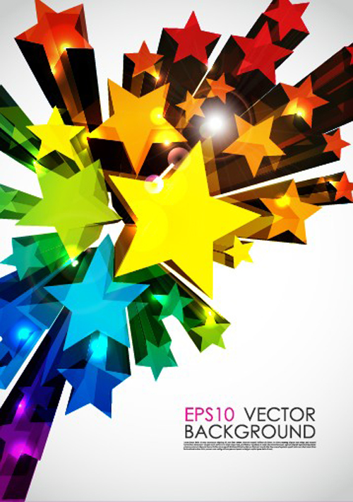Colorful Stars Background Art Vector 05   Over Millions Vectors
