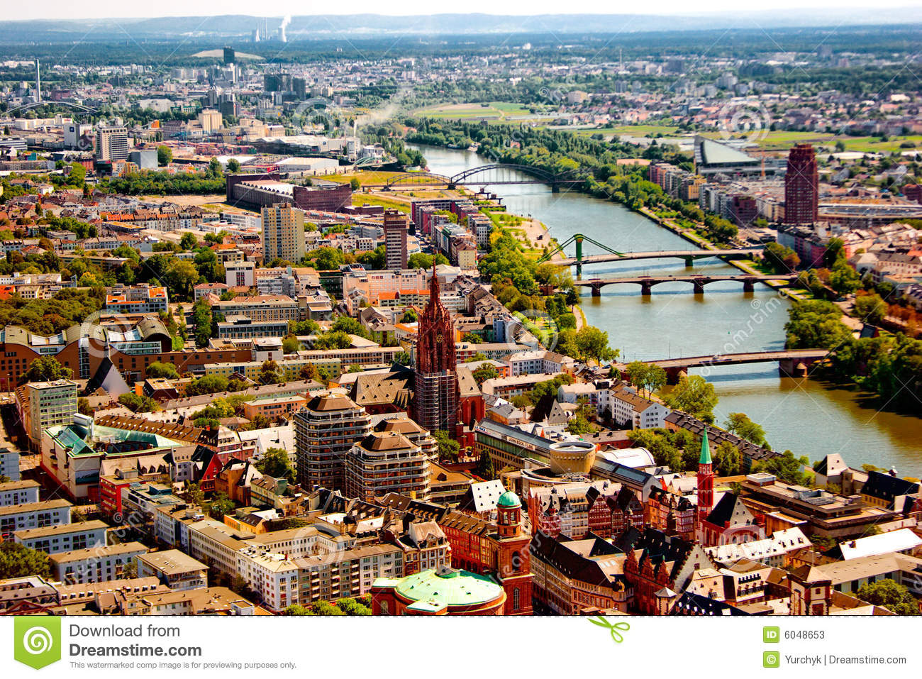 Frankfurt Am Mein Bird S Eye View Stock Photos   Image  6048653