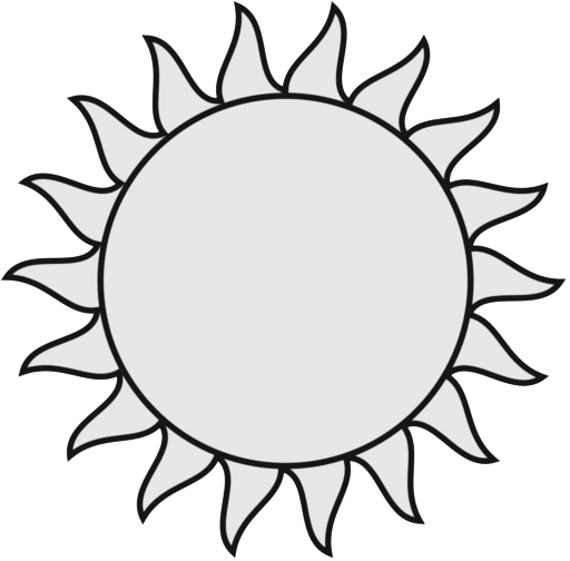 Go Sign Clipart Black And White Black And White Cartoon Sunfree Sun