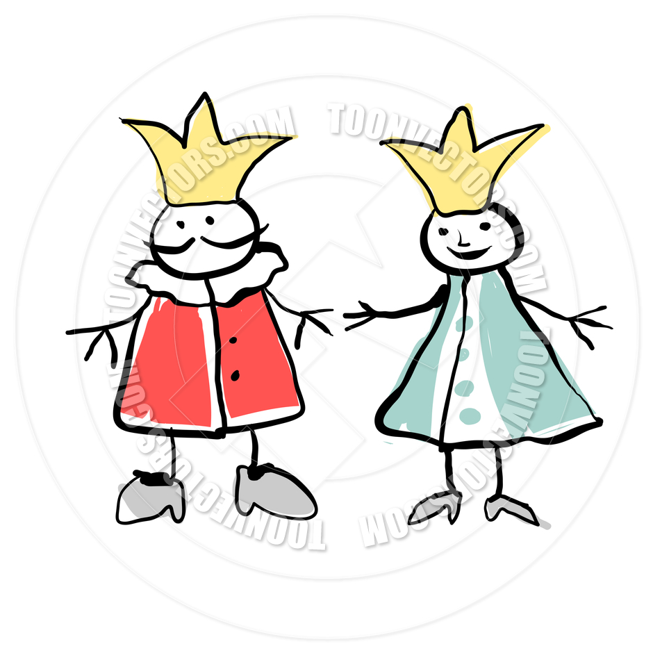 King And Queen Clipart Black And White
