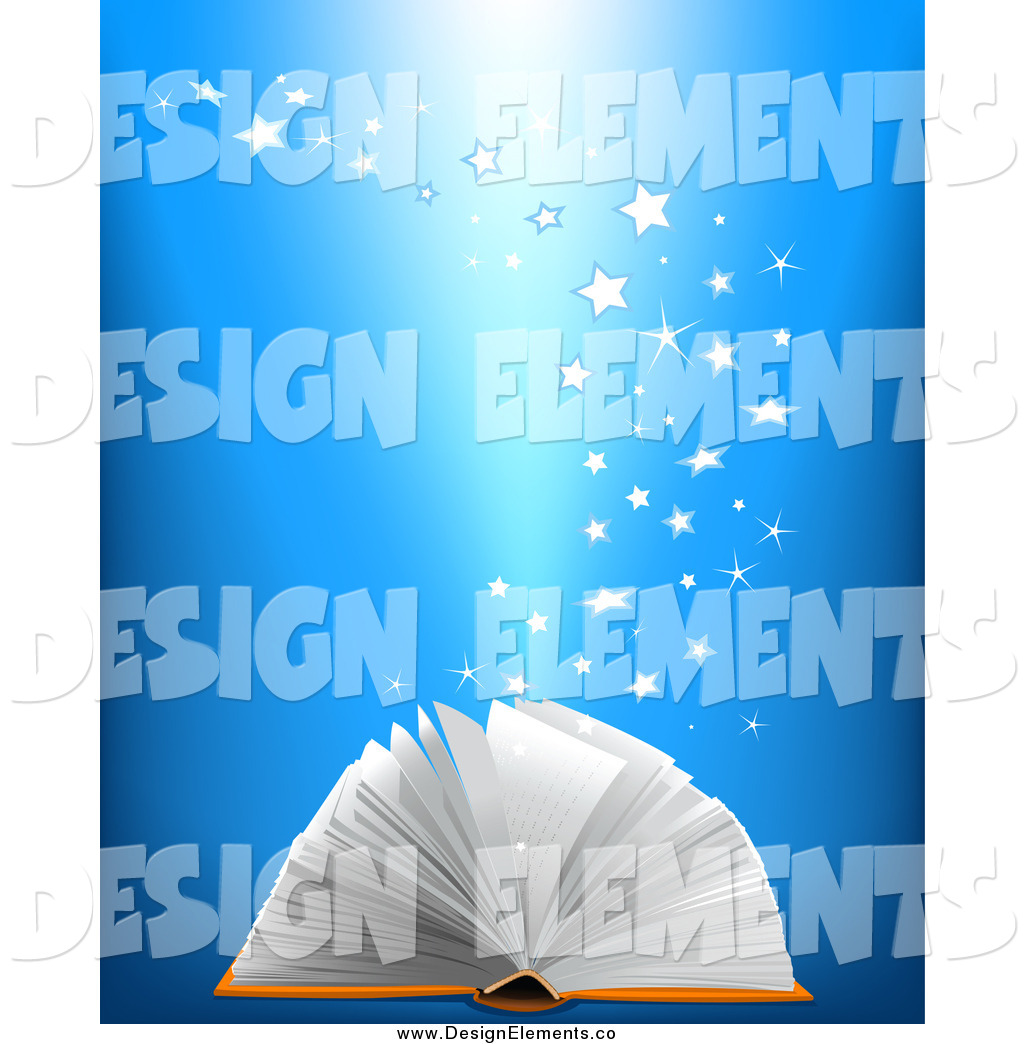 Larger Preview  Vector Clip Art Of Stars Rising From An Open Book By