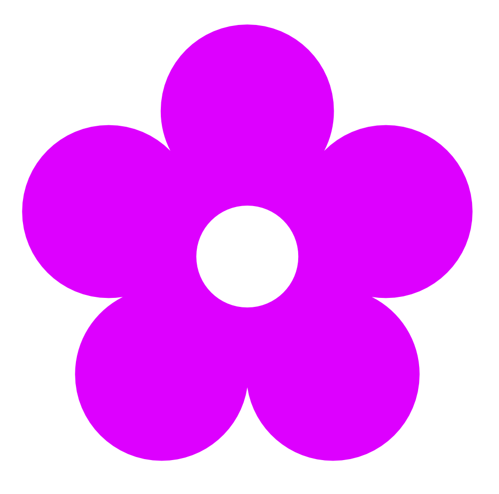 Pretty Purple Flower Clip Art Purple Flower Clipart Border