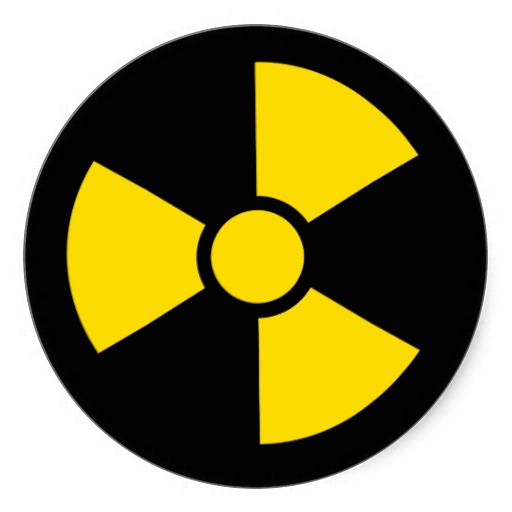 Radiation Symbol   Danger Radioactive Stickers From Zazzle