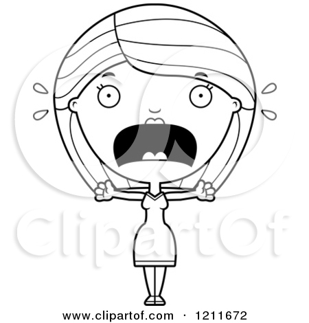 Royalty Free  Rf  Scared Woman Clipart Illustrations Vector Graphics