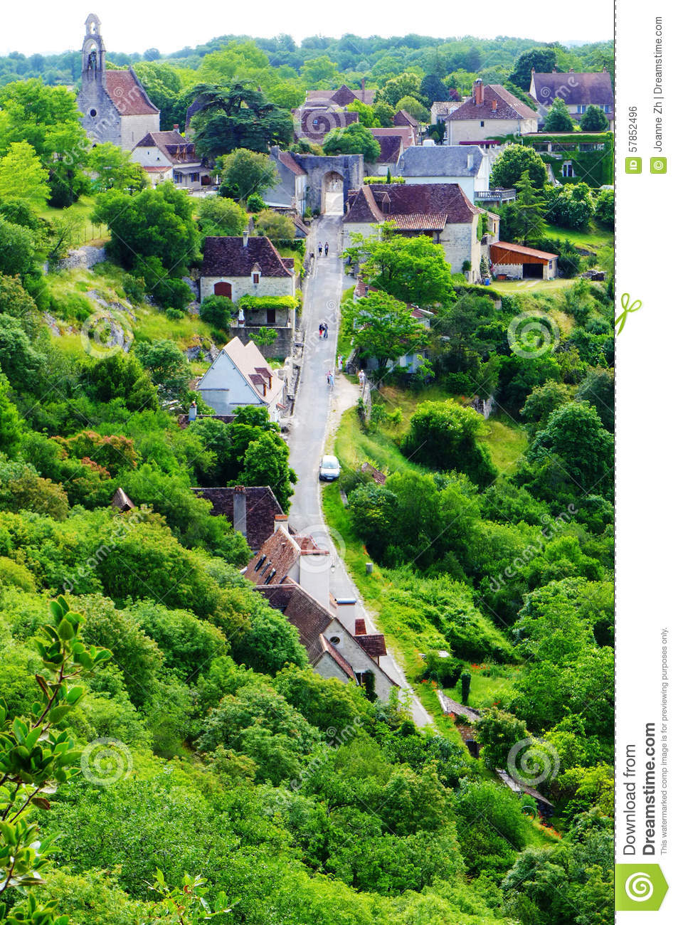 Stock Photo  Rocamadour France   Aerial View