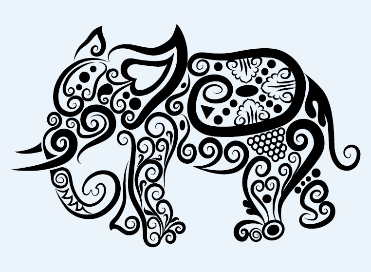 Detailed Line Drawings Of Animals : Simple pattern clipart suggest