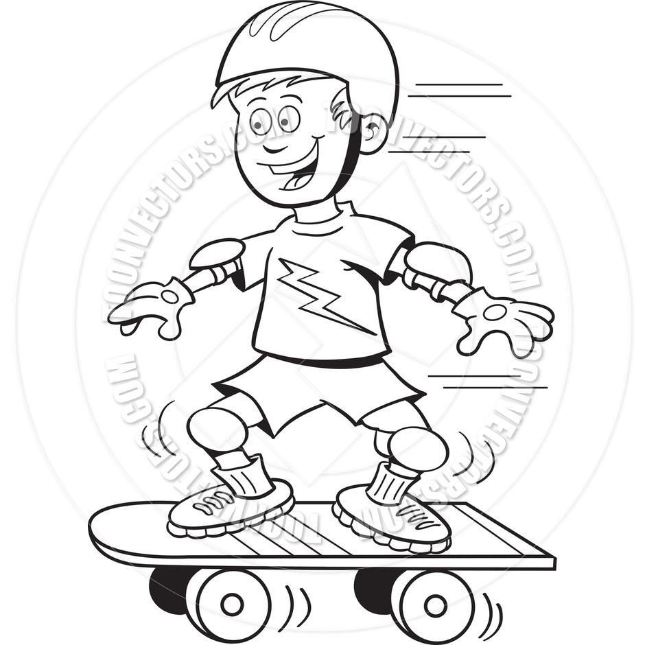 Skateboard Clip Art Black And White Skateboard Helmet Clip...