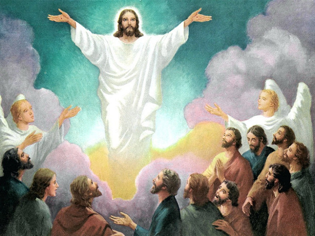 clipart of jesus ascending to heaven - photo #18