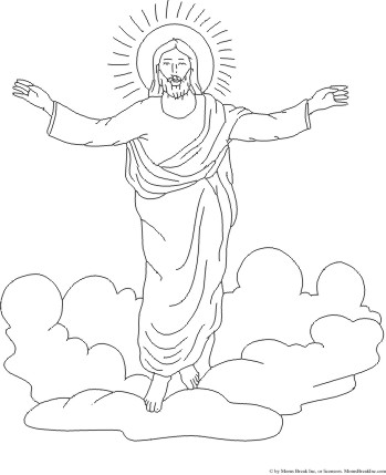 Jesus Christ Ascension Into Heaven Coloring Page And Free Christian