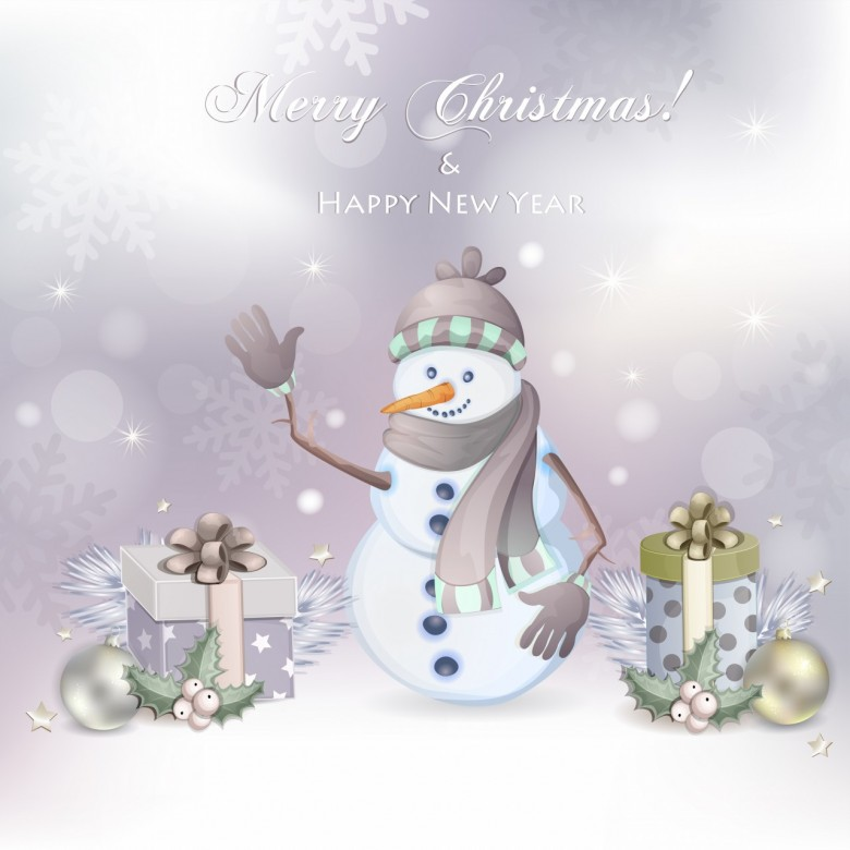 Merry Christmas 2013 Happy New Year 2014 Clipart Free