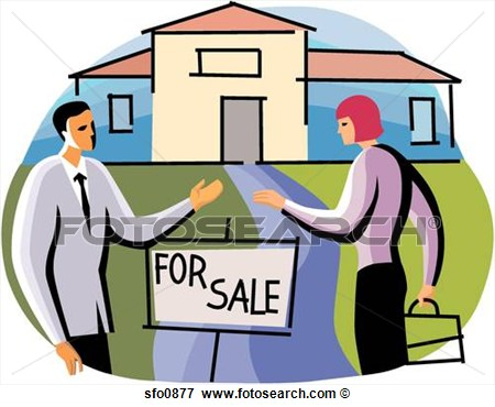 Real Estate Agents Selling House  Fotosearch   Search Eps Clipart