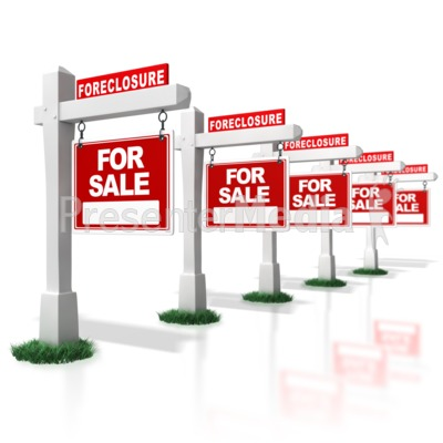 Real Estate Foreclosure Signs I   Business And Finance   Great Clipart