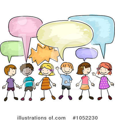 Students Talking Clipart - Clipart Kid