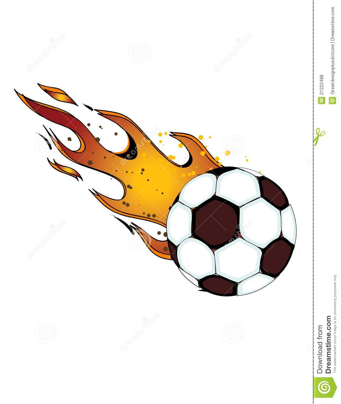 Similar Stock Images Of   Flaming Soccerball   Football  Vector Eps8