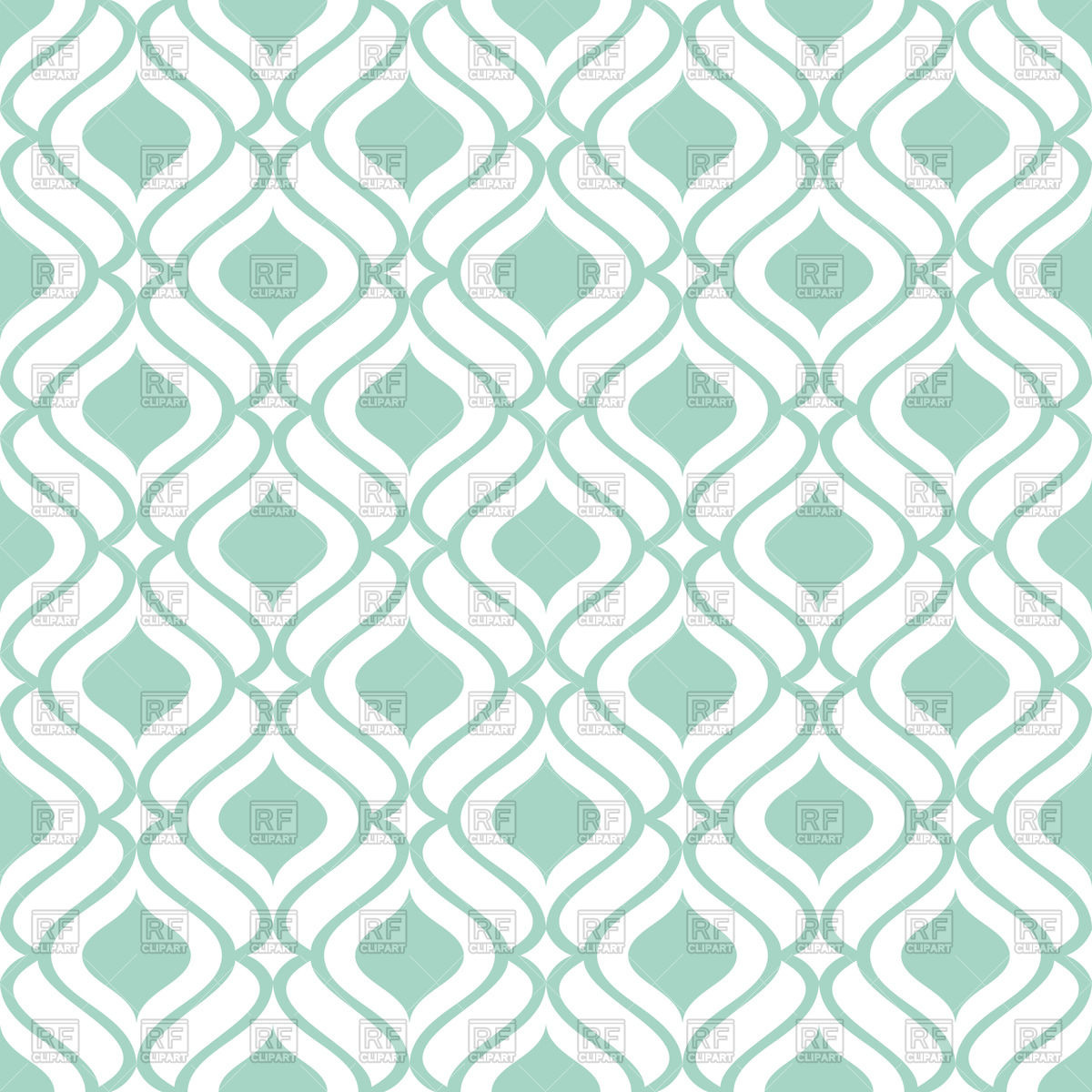 Simple Green And White Wallpaper With Seamless Geometric Pattern