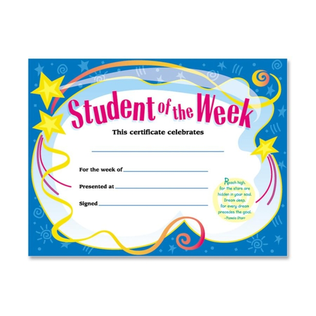 Student Of The Week Certificate Trend T2960 Tept2960 Student Of The