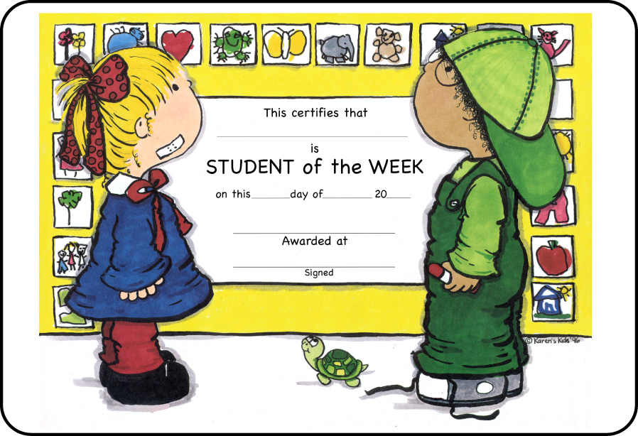 Student Of The Week Clip Art Award  Student Of The Week
