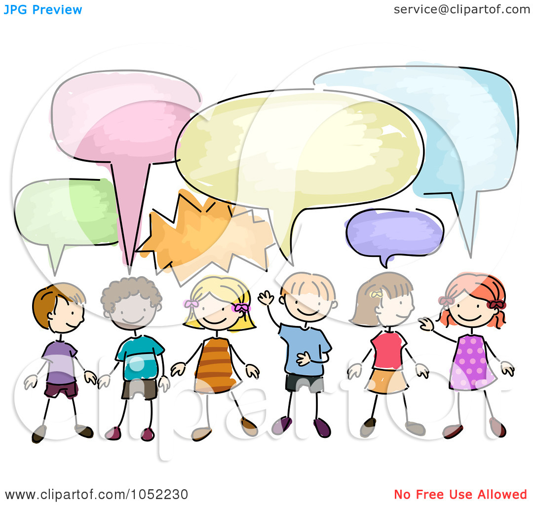 kids talking clipart