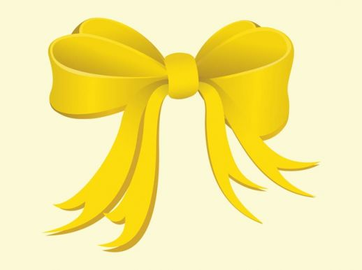 Yellow Bow Vector   Ai Pdf   Free Graphics Download