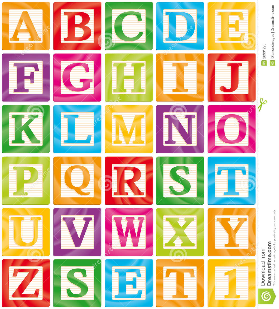 baby blocks set 1 of 3 capital letters alphabet stock photo image