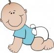 Baby Boy Crawling Clip Art   Funpict Com