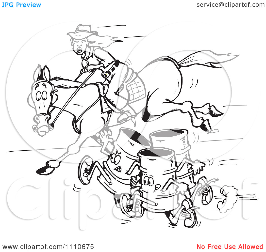barrel racing coloring pages - photo#28