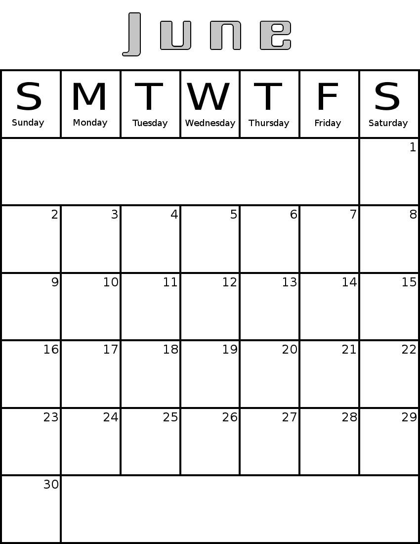 Result Calendar June : June calendar clipart suggest