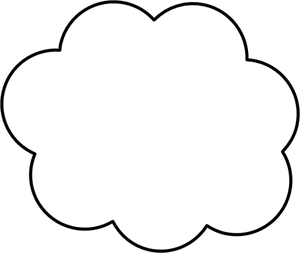 Cartoon Cloud Clip Art At Clker Com   Vector Clip Art Online Royalty