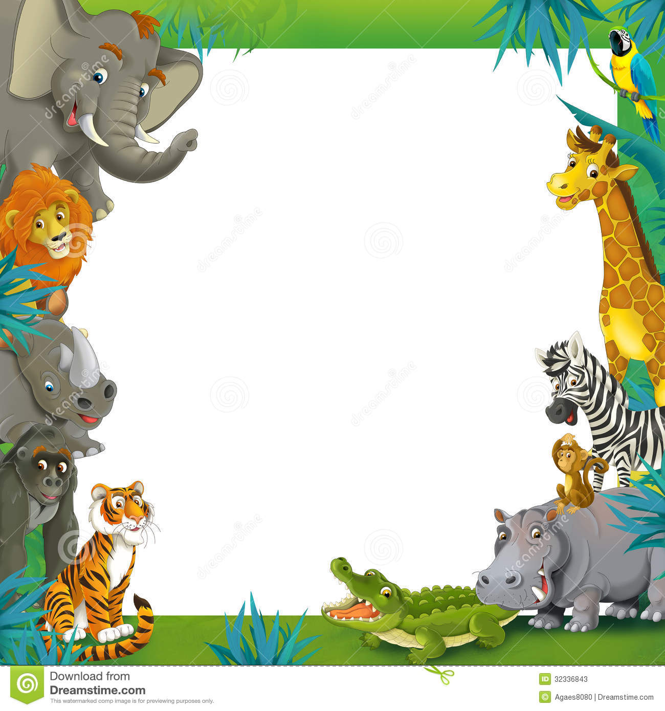 Jungle Animal Border Clipart - Clipart Kid