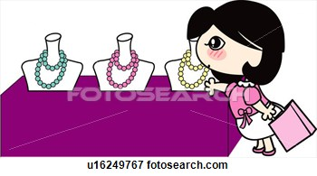 Clip Art Of Bag Jewelry Shopping Bag Holding Jewel Shop Necklace