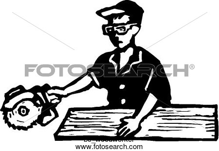 Clipart Of Woodworker Bc Woodworker   Search Clip Art Illustration
