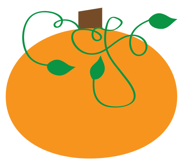 Curly Vine Pumpkin Clip Art