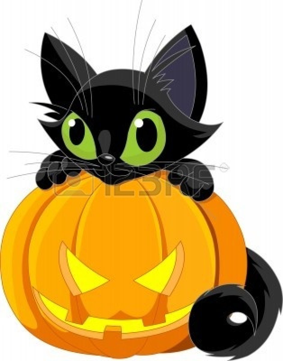 Cute Halloween Clipart Free Cliparts A Cute Black Cat On A Halloween
