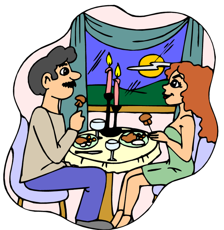 Eating Dinner Clipart 21736408 Png