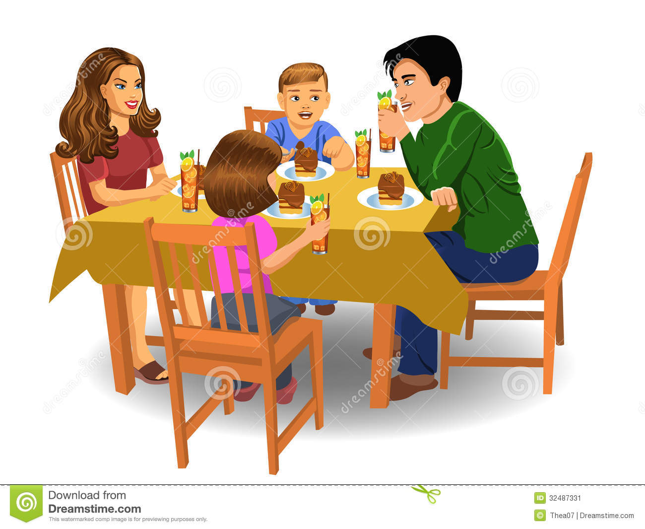 Family Dinner Stock Image   Image  32487331