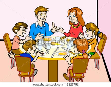 Eating Dinner Clipart - Clipart Kid