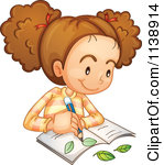 Girl Studying Clipart A Botanist Girl Studying