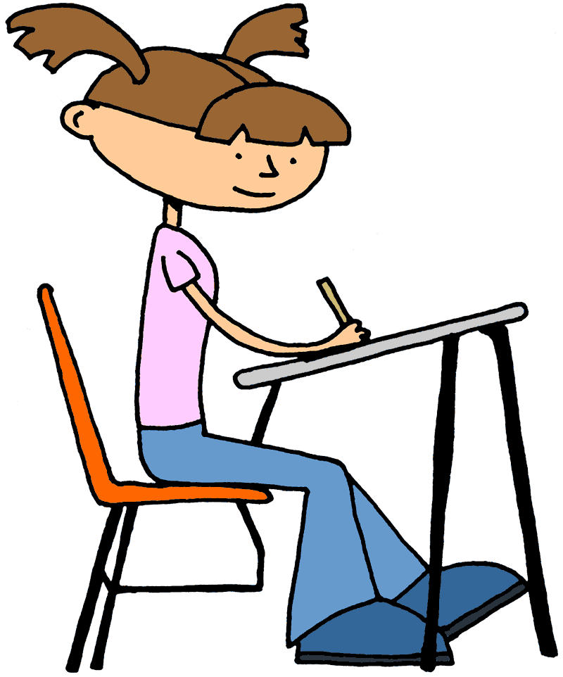 Girl Studying Clipart   Cliparts Co
