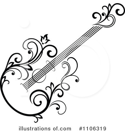 Guitar Clipart  1106319   Illustration By Seamartini Graphics