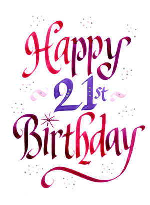 Happy 21st Birthday Images   Clipart Best