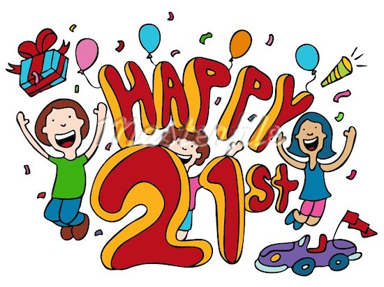 Happy 21st Birthday Pictures Free   Cliparts Co