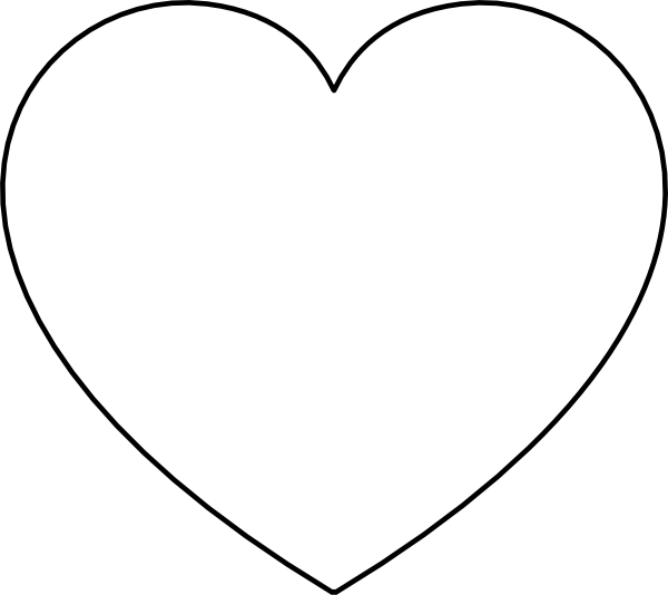 Heart Outline Clip Art At Clker Com Vector Clip Art Online Royalty