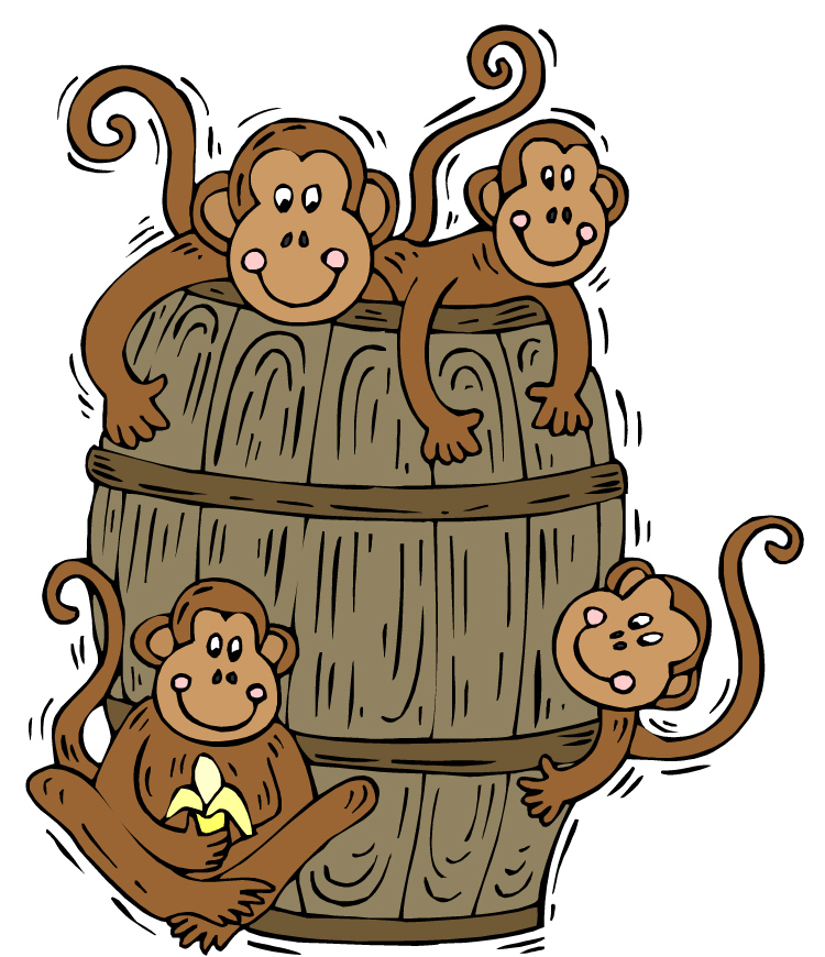 Barrel of fun clipart clipart suggest for Barrel of monkeys coloring page
