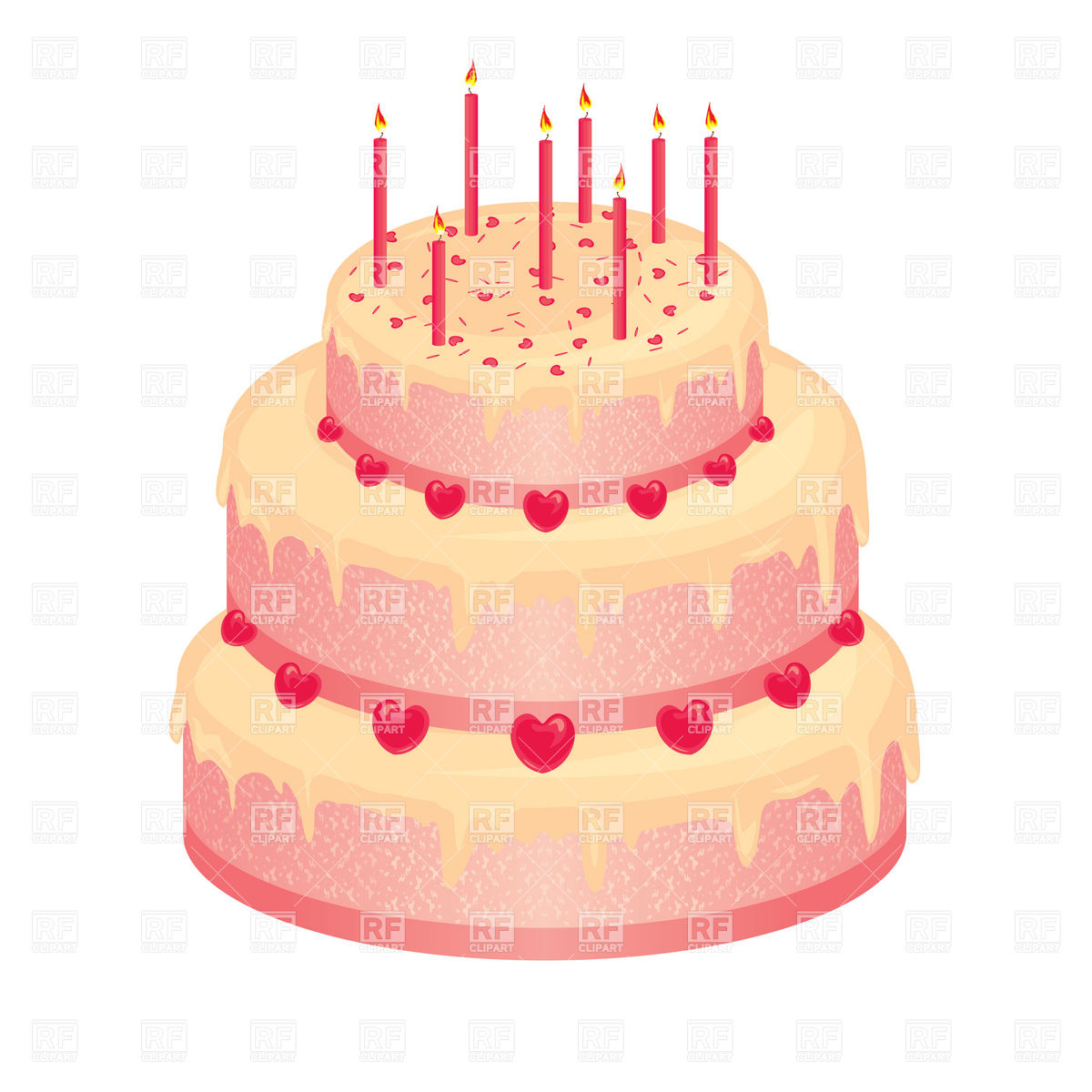Wedding Cake Design Free Download : Pink Birthday Cake Clipart - Clipart Suggest