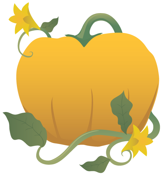 Pumpkin Vines Clip Art