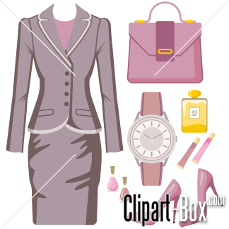 Related Business Lady Outfit Elements Cliparts