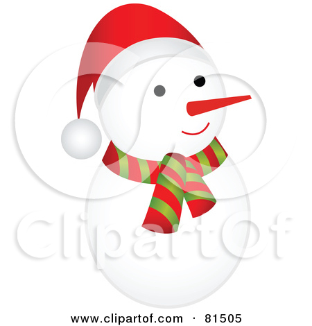Royalty Free  Rf  Clipart Illustration Of A Cute Rounded Snowman