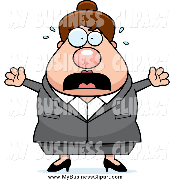 Screaming Caucasian Business Lady Business Clip Art Cory Thoman